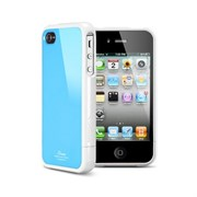 Пластиковый чехол SGP Linear Color Series Case Blue/White для iPhone 4/4s