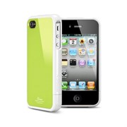 Пластиковый чехол SGP Linear Color Series Case Green/White для iPhone 4/4s