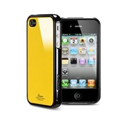 Пластиковый чехол SGP Linear Color Series Case Orange/Black для iPhone 4/4s