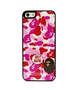 Чехол A Bathing Ape Go Ape Red Camo для iPhone 5