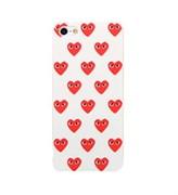 Чехол накладка Play Comme Des Gargons White Heart для iPhone 5