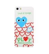 Чехол накладка Play Comme Des Gargons Blue Heart для iPhone 5
