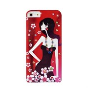 Пластиковый чехол со стразами Girls Night Red для iPhone 5
