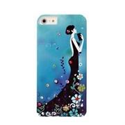Пластиковый чехол со стразами Flowers Girl Blue для iPhone 5