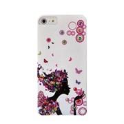 Пластиковый чехол со стразами Flowers Girl Bubles для iPhone 5