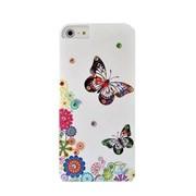 Пластиковый чехол со стразами Butterflys White для iPhone 5