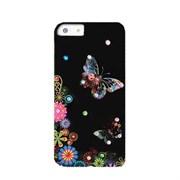 Пластиковый чехол со стразами Butterflys Black для iPhone 5