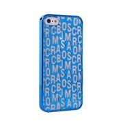 Пластиковый дизайн чехол-накладка Marc Jacobs Blue для iPhone 5