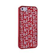 Пластиковый дизайн чехол-накладка Marc Jacobs Red для iPhone 5