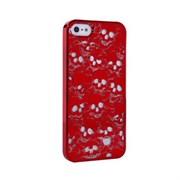 Пластиковый дизайн чехол-накладка Marc Jacobs Skulls Red для iPhone 5
