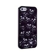 Пластиковый дизайн чехол-накладка Marc Jacobs Skulls Black для iPhone 5