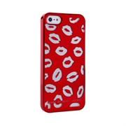 Пластиковый дизайн чехол-накладка Marc Jacobs Kisses Red для iPhone 5