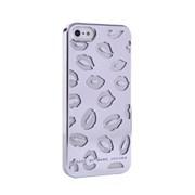 Пластиковый дизайн чехол-накладка Marc Jacobs Kisses Silver для iPhone 5