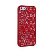 Пластиковый дизайн чехол-накладка Marc Jacobs Collage Red для iPhone 5