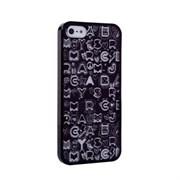 Пластиковый дизайн чехол-накладка Marc Jacobs Collage Black для iPhone 5