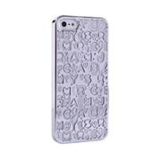Пластиковый дизайн чехол-накладка Marc Jacobs Collage Silver для iPhone 5