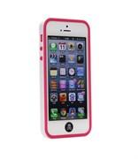 Бампер сборный двойной White/Dark Pink для iPhone 5