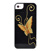 Чехол-накладка для iPhone SE/5/5S iCover Elegant Butterfly Black