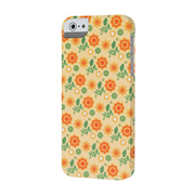 Чехол-накладка для iPhone SE/5/5S  iCover Spring Flower Rubber
