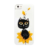 Чехол-накладка iCover для iPhone SE/5/5S Cats_02 ручная роспись
