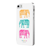 Чехол-накладка India для iPhone SE/5/5S Hard Elephants White