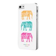 Чехол-накладка India для iPhone SE/5/5S Hard Elephants White