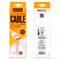 Кабель для iPhone/iPad HOCO Apple Two Side Jelly Cable 120см - фото 7154