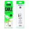 Кабель для iPhone/iPad HOCO Apple Two Side Jelly Cable 120см - фото 7156